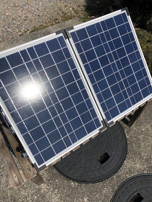 折り畳み太陽発電パネル 画像