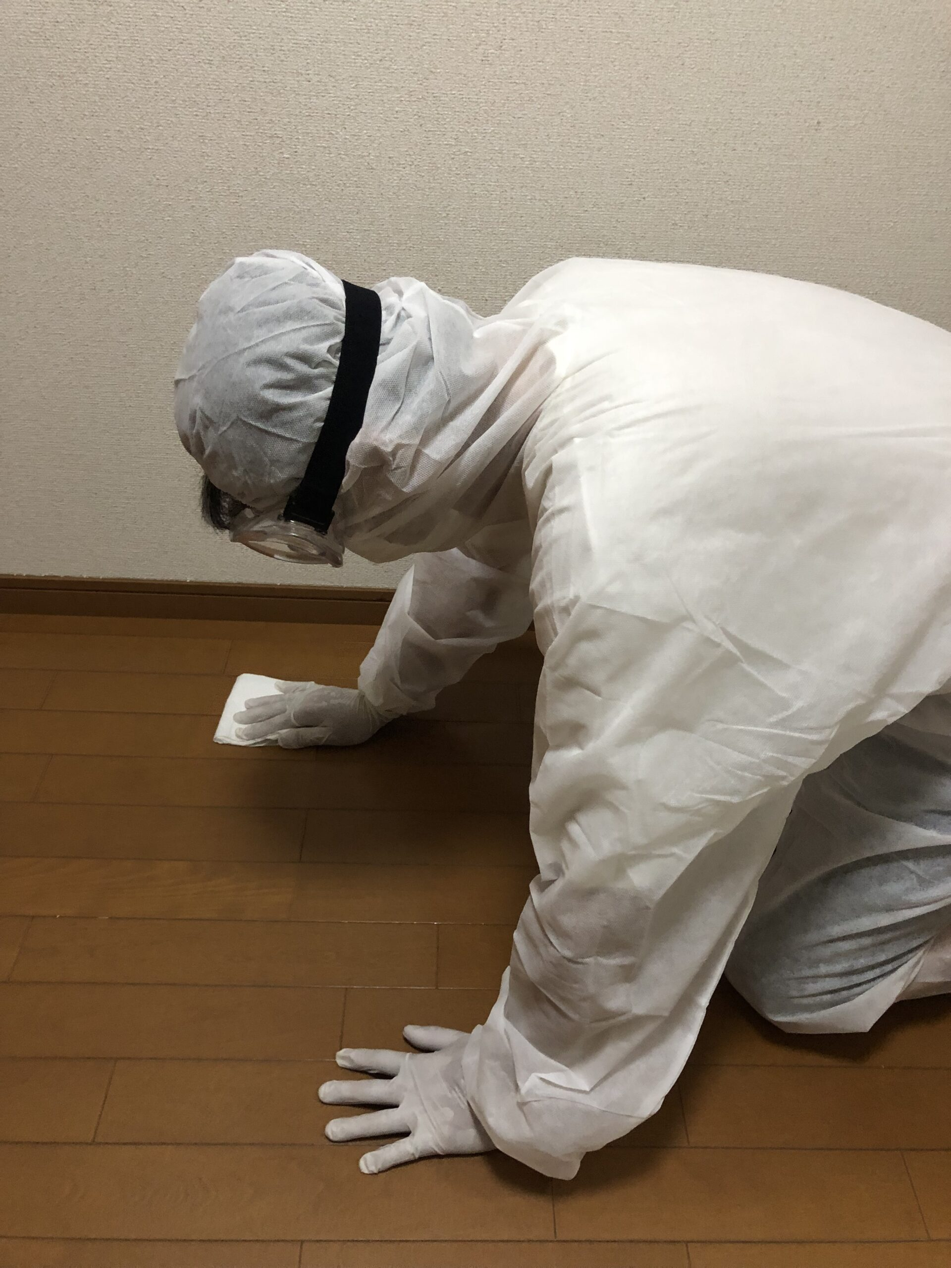 宝塚市にお住いの方からSOSでコロナ除菌・消毒作業